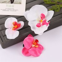 blumen haardekor großhandel-Motte Orchidee süße künstliche Blume Mode Haar Ornament DIY exquisite Simulation Blumen mit Multi Farbe Hochzeit Party Decor 1yh jj