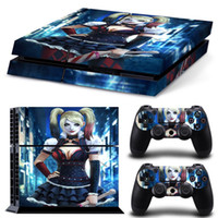 2018 Harley Quinn Skin Sticker For Sony Playstation 4 Console + 2PCS Controle Cover Decals For PS4 Dualshock 4 Games Accessories