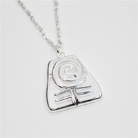 Wholesale Earth Pendant Silver - 12pc lot Silver tone The Last Airbender charm halloween charm earth necklace pendants jewelry