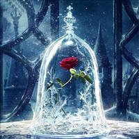 ingrosso decorazioni della casa della campana-Jingle Bell Rose Design DIY Pittura Diamante 5d Romantico Stile Europeo Mosaico Speciale Punto Croce Per La Decorazione Della Parete di Casa Vendita Calda 8cqa Z