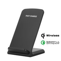 Wholesale galaxy base - Hot Universal Portable Qi Wireless Charger for iPhone X 8 Charging Base Dock Station Fast Charger for Samsung Galaxy S8 S7 Edge Charging Pad