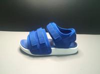 Wholesale Leather Mail - 2018 Summer Children Shoes Toe Sandals Boys Girls Korean Color Sandals Children Soft Bottom Bag Mail Kids Leather Sandals