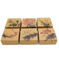Wholesale Mooncake Package - Classic Chinese Ink And Wash Painting Style Mooncake Box Cake Biscuit Candy Package Gift Box wen5040