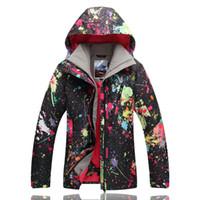ingrosso scarpe da sci impermeabili delle signore-Nuovo Gsou 2017 signore giacca da sci impermeabile giacca da snowboard caldo inverno tuta impermeabile vetements sci femmes