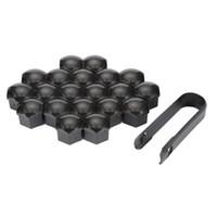 suministros de ruedas al por mayor-Nuevo 20 Unids / set 17mm Coche Estilo plástico Ruedas Tuercas Tapa Bolt Caps Suministrado con Herramientas de eliminación para VW para AUDI
