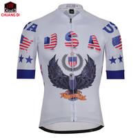Wholesale usa sports clothing - New USA Sports Wear Mens Cycling Jersey Cycling Clothing Bike Shirt Size S TO 3XL