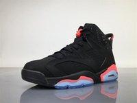 Wholesale Infrared Hunting - Air Retro 6 Men Basketball Shoes Black INFRARED 23-Black NOIR ROSEIN-NOIR 384664 023 Sneakers Sports Outdoors Air Cushion Footwears