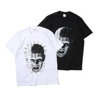 Wholesale loose nails for sale - 18ss Sp hellraiser Joint Pinhead Tee Retro Street Nail Head Ghost Print Loose T shirt Men s and Women s Lovers T Shirt HFWPTX192