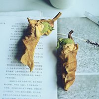 Wholesale Plants Article - Cute Sleeping Leaf Elf Figurines Miniatures Resin Mini Angle Baby Dolls Furnishing Articles Home Garden Decoration