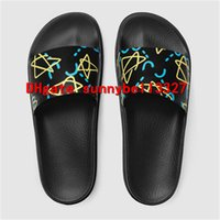 en iyi plaj sandaletleri toptan satış-Moda Web Kauçuk Slayt Sandal Terlik Erkekler 2018 Sıcak Kaplan Tasarımcı Çiçek Baskılı Unisex Plaj Flip Flop Terlik En Kaliteli 36-45