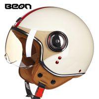Motorcycle Helmet Chopper 3 4 Open Face Vintage Helmet Moto Casque Casco Capacete Men Women Scooter Motorbike