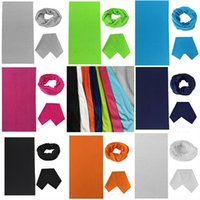 Wholesale Performance Magic - pure color white green black Multifunctional Seamless Magic Scarf Variety Warm Halloween Cosplay Bicycle Cs Ski Headwear Half Face for party