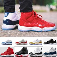 "Wholesale Shoes For Women S - Number ""45"" ""23"" 11 Spaces Jams Basketball Shoes for Men Women Gym Red s 11s Athletic Sport Sneakers Midnight Navy US5.5-13"