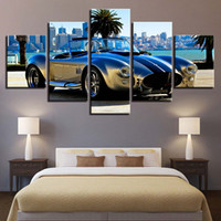 impresiones de obras de arte famosas al por mayor-Modular Canvas Painting HD Prints Home Decor 5 Piezas Arte de la pared Famous Brand Car Vintage Pictures Artwork Creative Poster