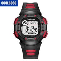 Wholesale pin electronics for sale - Students boys kids children girls mens COOLBOSS sport led digital watch fashion electronic gift party watch Multifunction watch