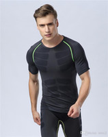 Wholesale tights comfortable - Tight suit men's sports, comfortable, quick-drying breathable running instructor suit, Europe and the United States men's fitness