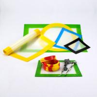 контейнеры для выпечки оптовых-Поддержка индивидуальные логотип антипригарным силиконовый коврик Коврик силиконовые выпечки мат силиконовые dab мат bho экстрактор воск мазки для продажи воск контейнер колодки