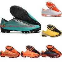sale retailer 76aa6 9dca9 2018 mens soccer cleats VaporX 12 Academy CR7 AG-R soccer shoes Mercurial  Superfly football boots scarpe da calcio size 39-46 Original