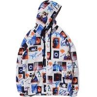 universo hoodie venda por atacado-Hip Hop Streetwear Jaqueta Universo Era Imprimir Homens Jaqueta Blusão Virgem Maria Zipper Com Capuz Outwear M L XL XX