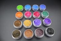 ingrosso coloranti pigmentanti-16 vasetti / lotto - Mica Pigment Powder ~ Perfetto per fare sapone ~ Cosmetics Resin Dye Makeup ~ Smalto per unghie