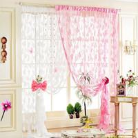 habitaciones forradas al por mayor-Cortinas decorativas multicolores rosa cielo azul rojo clásico Línea cortina cortina persiana Vanlance Room Divider T6I041