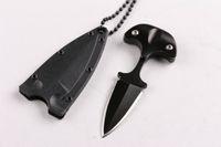 damastabalone faltmesser großhandel-Neueste Kaltstahl Stil URBAN PAL 43LS kleine feststehende Klinge Messer Karambit Taschenmesser taktisches Messer mit K Scheide und Halskette B283L