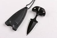 taktik bıçak kılıfları toptan satış-Yeni Soğuk çelik tarzı KENTSEL PAL 43LS küçük Sabit bıçak bıçak karambit cep bıçak K kılıf ve kolye ile B283L taktik bıçak