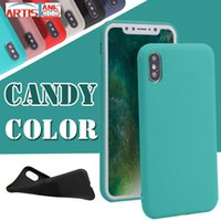 Wholesale apple matting - Candy Solid Color Case for iPhone X Matting Soft Silicone Cases For iPhone 8 7 6 6S Plus Phone Case Ultra Slim Silicone Cover