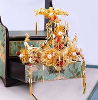 tiaras antigas venda por atacado-Noivas, acessórios, noivas, roupas antigas, borlas, Xiu, ternos hee, tiara, estilo antigo, Hanfu e acessórios.