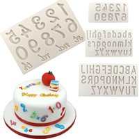 Wholesale candy cake letters - Letter Number Shaped Silicone Cake Mold Cake Decoration Tool Kitchen Baking Mold Fondant Chocolate Candy Tool