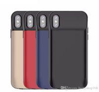 Wholesale iphone case battery online – custom Newest power case mah mah Ultra Thin Battery Bank Case mobile phone battery Case for iPhone X