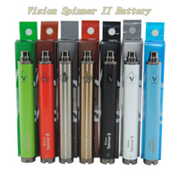 Wholesale battery direct - 1650mah Vision Spinner II Vape Pen eGo 510 Twist Variable Voltage Battery with USB Charger for Vaporizers Batteries China Direct