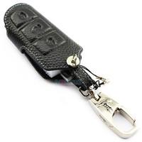 volkswagen deri toptan satış-VW Magotan CC B7L için hakiki Deri araba Anahtarı Durum araba anahtarı kapağı anahtarlık anahtar tutucu yüksek kalite oto aksesuarları yeni güncelleme