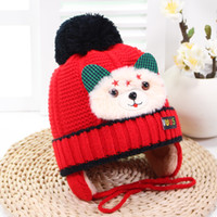 Wholesale kids character crochet hats for sale - Group buy Fashion Hot Cute Baby Winter Warm Beanie Hat Baby Toddler Knitted One Ball Knitted Cap Kids Hats Child Crochet Bear Cap Christmas Gift