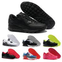 356be5d53e8 Nike air max 90 Mens casual shoes homens e mulheres casual shoes preto  vermelho branco sports trainer coxim respirável calçados esportivos 36-45