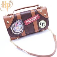Wholesale Badge Wallets - Harry Potter Bag Hogwarts PU School Badge Wallet Package Collectibles Shoulder bag Handbags Halloween Christmas Gifts