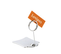 Wholesale pop display clips resale online - 50 small size store POP metal clip stand desk sign holder snap price tag display name card clip shelf label holder stand