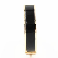 Wholesale gold h buckle for sale - Group buy 12MM Luxury Stainless Steel Cuff Bracelets Bangles Wristband Enamel Bangles Gold H Buckle Classic Brand Bracelets YX003