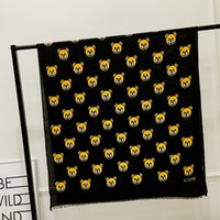 Wholesale hand printed scarf for sale - Group buy 2018 Cute cartoon bear print cotton scarf shawl blanket holiday sun protection blanket shawl Christmas present