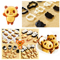 Wholesale Deco Kids - DIY Panda Food Deco Cutter and Stamp Kit Cookie Mold For Kids Lover Valentine's Day Gifts