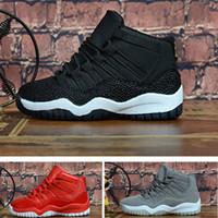ingrosso nero 11s-11s Premium Heriess Scarpe da pallacanestro per bambini nere metallizzate oro a raggi infrarossi 23 Bambina infantile Sneakers in pelle scamosciata grigie per bambini scarpe da ginnastica da ginnastica