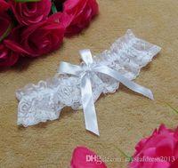siyah beyaz düğün atıcıları toptan satış-Ücretsiz Kargo Dantel Gelin Garters Beyaz Siyah Ucuz Seksi Düğün Bacak Garters Gelin Aksesuarları Çarpıcı Garters Xmas Hediye
