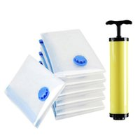 Wholesale Vacuum Pumps Bags - 1 PC Home Storage Vacuum Space Saver Bag Reusable Compressed Organizer Clothing Quilt Air Pump Seal Bag for Organizing Cupboard