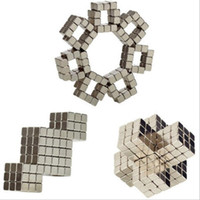 Wholesale 5mm Bucky Ball - 2018 new 216pcs Adult Fidget cube silver magic magnetic bucky cubes square bucky ball magnets neocube cubes table decompression toys 4mm 5mm