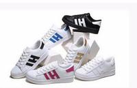 Wholesale concrete plate - HOT! Men & Women Shoes Flat bottom plate 2017 direct selling business seven colors shoes casual couple shoes size 36-44