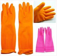 ingrosso guanti di gomma lunghi di pulizia-Guanti di gomma per la casa Guanti di pulizia Guanti per maniche lunghe Lavori domestici Lavanderia Lavastoviglie Lavastoviglie Guanti resistenti in ecopelle