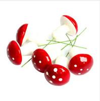 ingrosso vasi per le vacanze-Nuovo 12 Pz / set Decorazioni di Natale Mini Red Fungo Forma Ornamento Piante da vaso in miniatura Fata Holiday Home Decor per feste