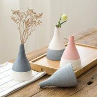 ingrosso bonsai terrarium-Vaso per piante Home Bonsai Vintage Terrarium Vaso per ceramica Paesaggio Contenitore Trasparente Dry Hydroponic Decorazione Vaso per fiori LY371