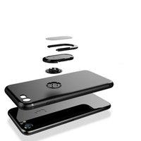 cep telefonu için yüzük toptan satış-2018 sıcak 360 Halka Araba Telefon Tutucu Kılıf Manyetik Cep Telefonu Kapak Zırh iPhoneX iPhone 7 için Kılıf 7 Artı 6 6 S Artı 5 5 S SE