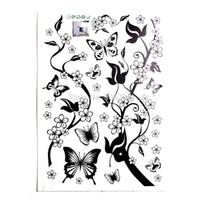 arte de parede de vinil de borboleta venda por atacado-Atacado Borboleta Flores Árvore Adesivo De Parede Decor Art Vinyl Mural Decal Adesivo de Parede